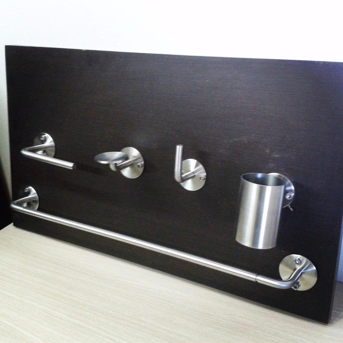 Accesorios para ba o kit de 5 piezas de acero inoxidable for Kit accesorios para bano