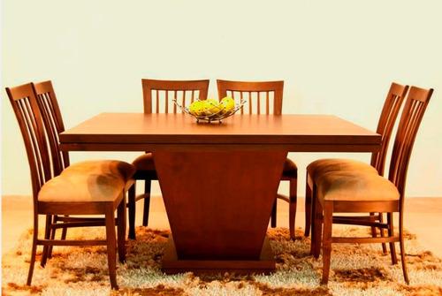juego de comedor 6 ptos varios modelos de sillas en madera