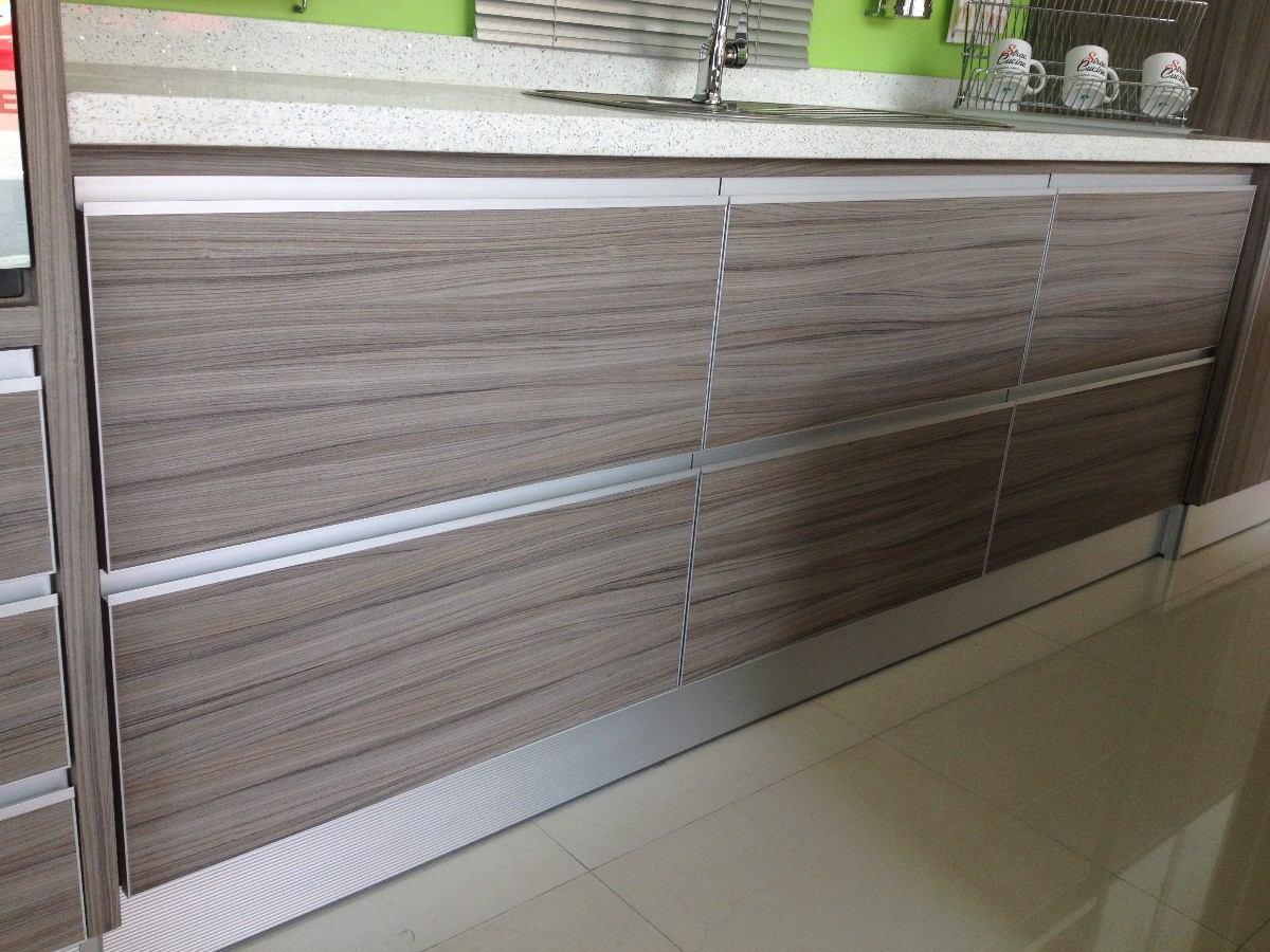 Perfil de aluminio tirador cuadrado embutir herraje cocina for Muebles de cocina de aluminio