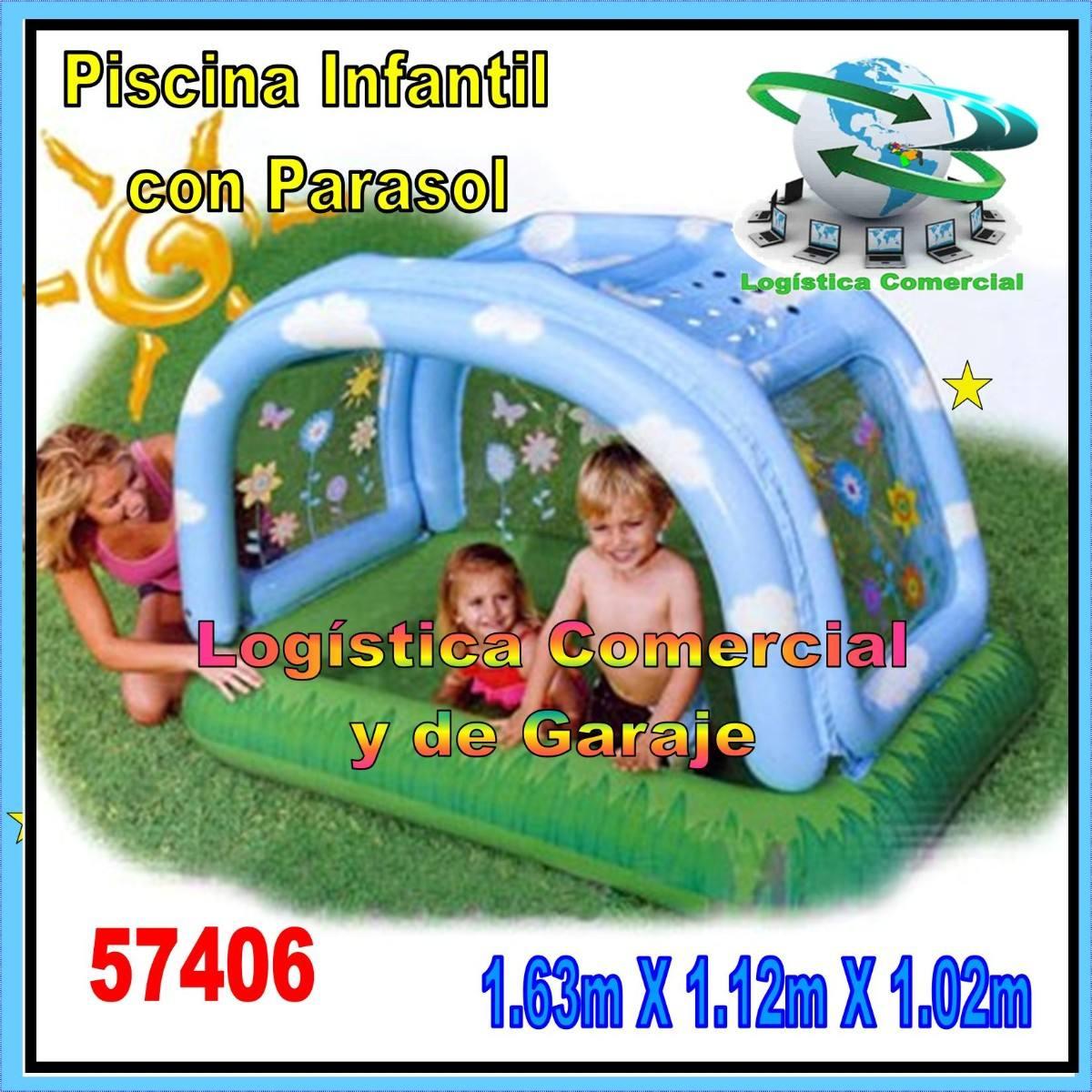 Piscina inflable para ni os intex 57406 con parasol o for Piscina inflable intex