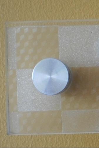 separador soporte señales acrilicas vidrio