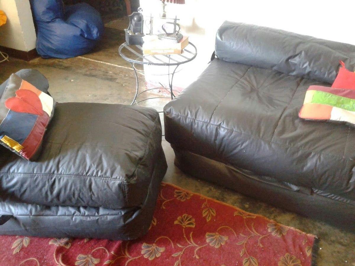 Sofa cama tipo puff indvidual o matrimonial bs for Mercado libre sofa camas nuevos