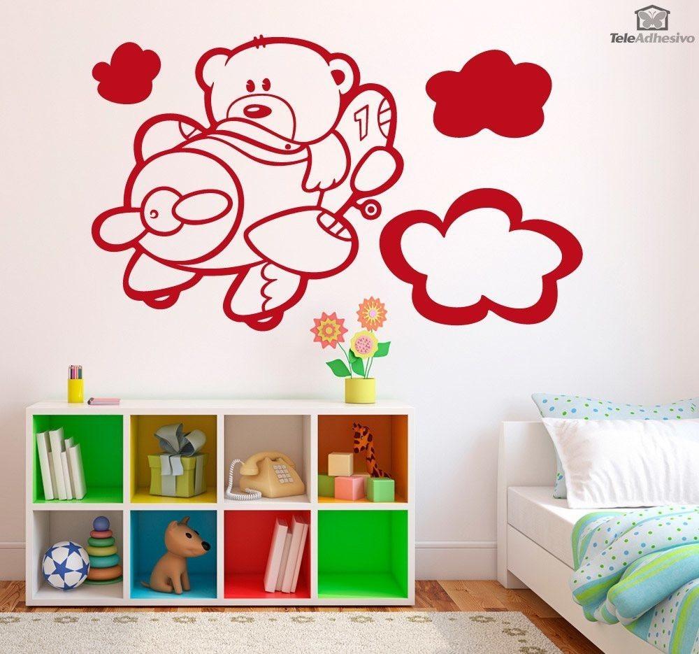 Vinilos decorativos cuartos de bebes habitaciones regalo for Vinilos armarios infantiles